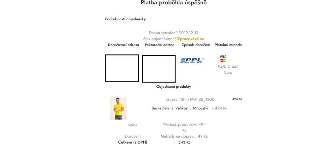 modivo.cz - platební podmínky
