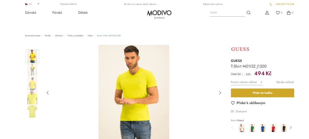 modivo.cz - tričko Guess