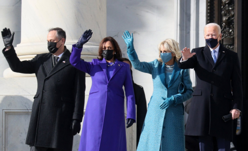 Co symbolizovaly šaty Kamaly Harris a Jill Biden na inauguraci nového amerického prezidenta?