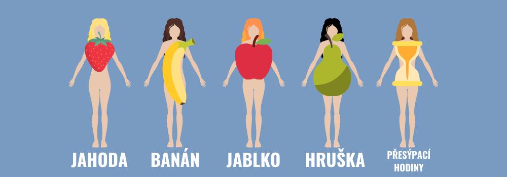 Ženské typy postavy na základě tvaru ovoce