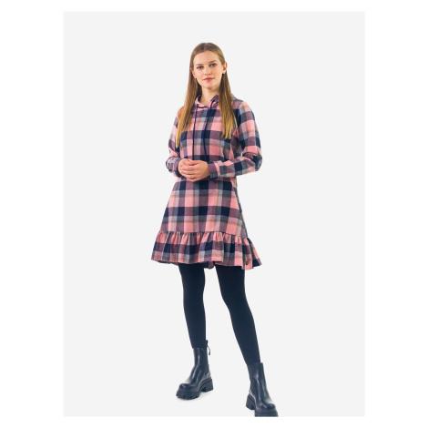Modro-růžové kostkované šaty Culito from Spain Mireia