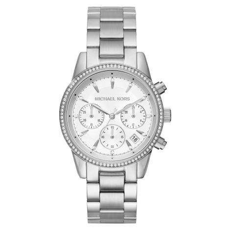Michael Kors Analogové hodinky 'MK6428' stříbrná / bílá