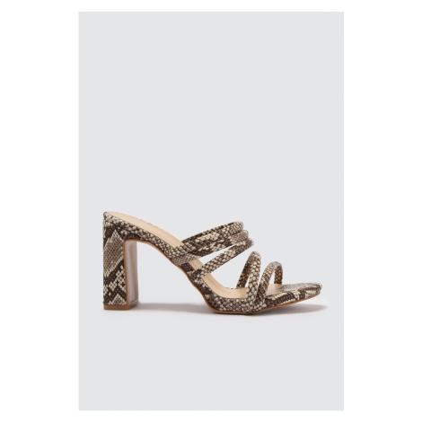 Trendyol Beige Banded Snake Detailed Women's Slippers