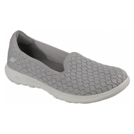 Skechers GO WALK DAISY šedá - Dámské slip-on tenisky