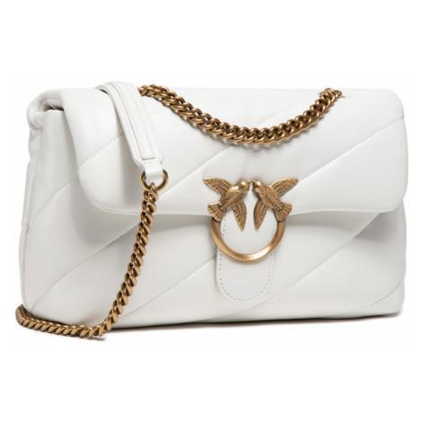 Bílá kožená kabelka - PINKO | Love Classic Puff Maxi