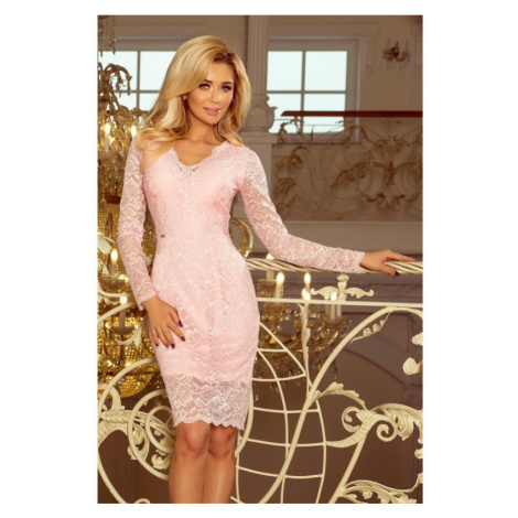 NUMOCO šaty dámské 170-4 dlouhý rukáv krajka