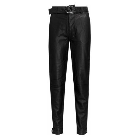 Kalhoty J Brand JONAH HIGH RISE LEATHER černá