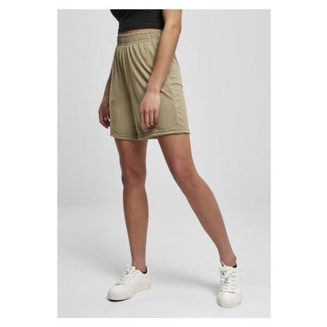 Ladies Modal Shorts - khaki Urban Classics