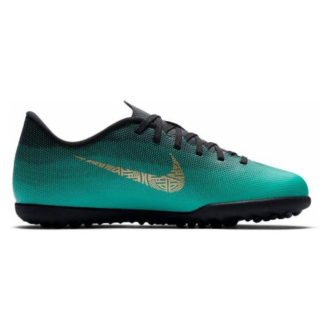 Dětské kopačky Nike MercurialX Vapor 12 Club CR7 TF Zelená / Černá