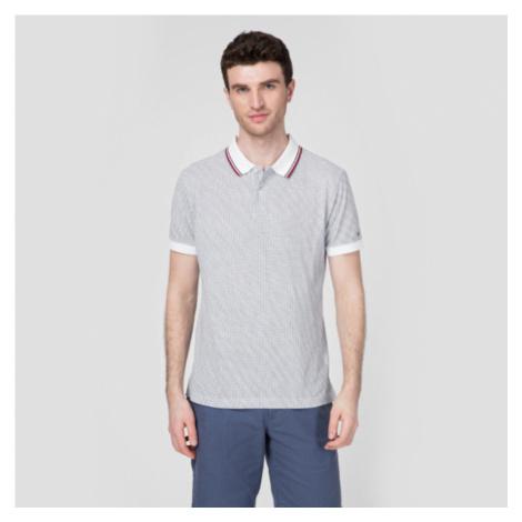 Tommy Hilfiger pánské bílé polo triko s potiskem