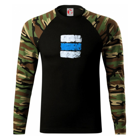Turistická značka - modrá - Camouflage LS