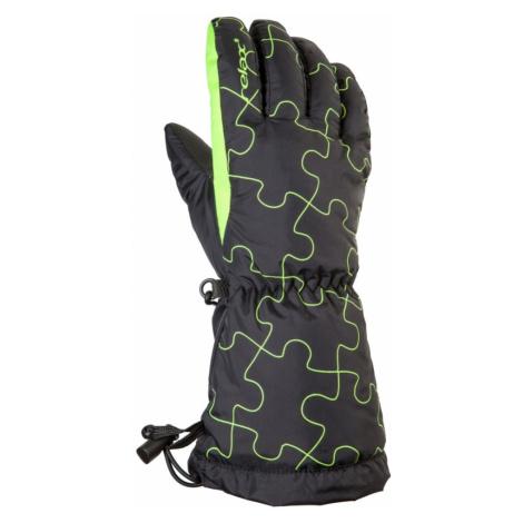 Dětské lyžařské rukavice Relax PUZZY - černo-zelená