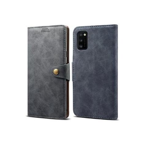 Lenuo Leather pro Samsung Galaxy A41, šedá