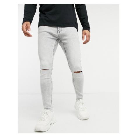 Bershka super skinny jeans in light grey