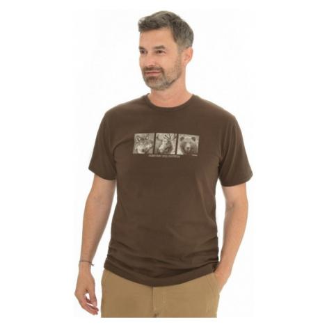 Pánské tričko BUSHMAN KALAMZOO tmavě hnědá