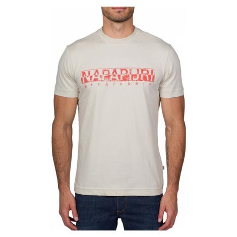 Napapijri NAPAPIJRI pánské béžové tričko SOLANOS