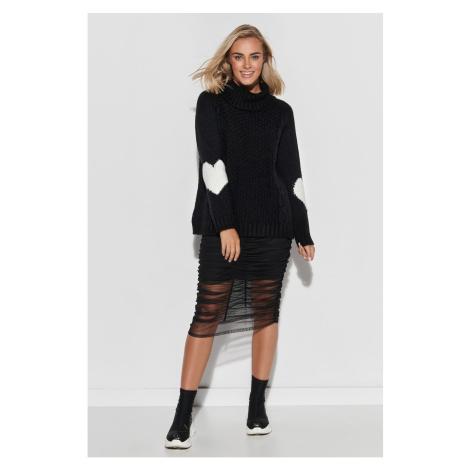 Makadamia Woman's Sweater S104 Black/Ecru