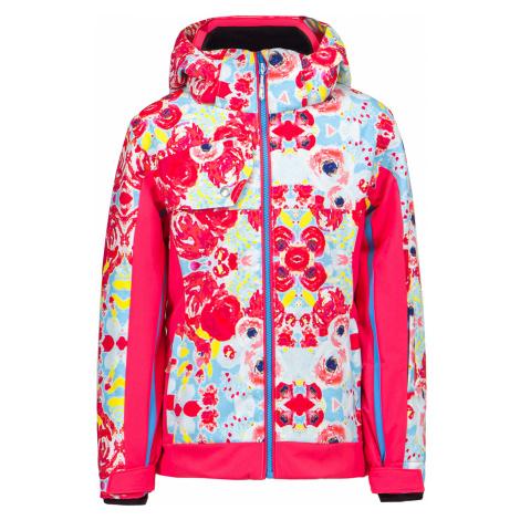 Lyžařská bunda Descente KLOE JUNIOR vzorkování|růžová