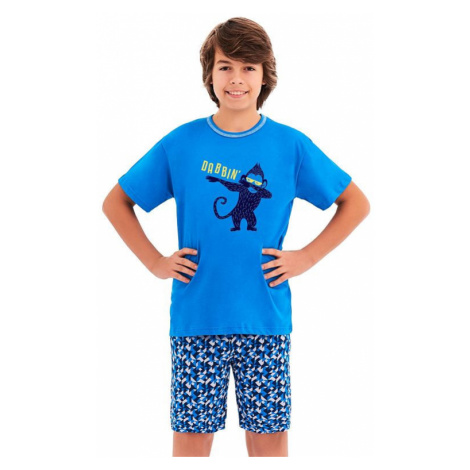 Chlapecké pyžamo Damián modré opice Taro