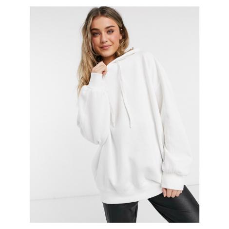 Bershka oversized hoodie in white