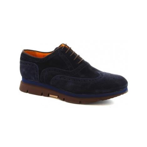 Leonardo Shoes 3863-6 PE CAMOSCIO BLU Modrá