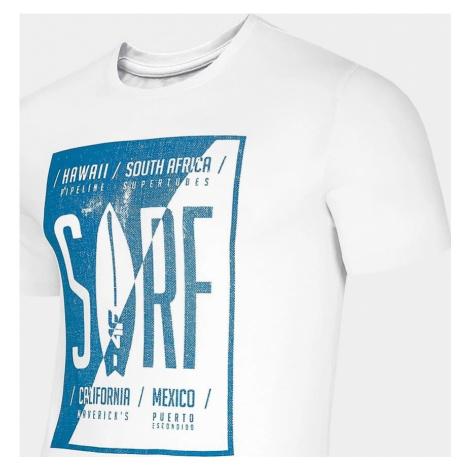Pánské tričko 4F TSM256 Bílé