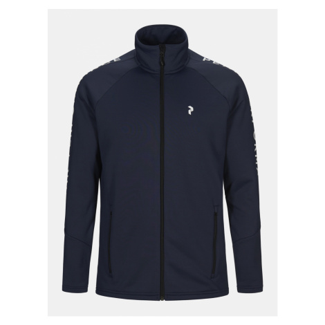 Mikina Peak Performance M Rider Zip Jacket - Modrá