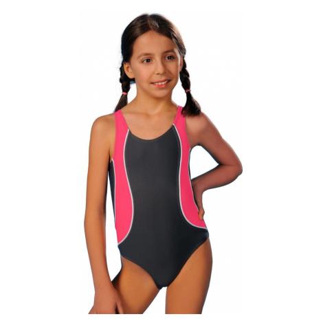 Winner Dívčí jednodílné plavky Ala šedorůžové