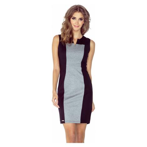 Dvojbarevné šedo-černé šaty model 4977697 Morimia