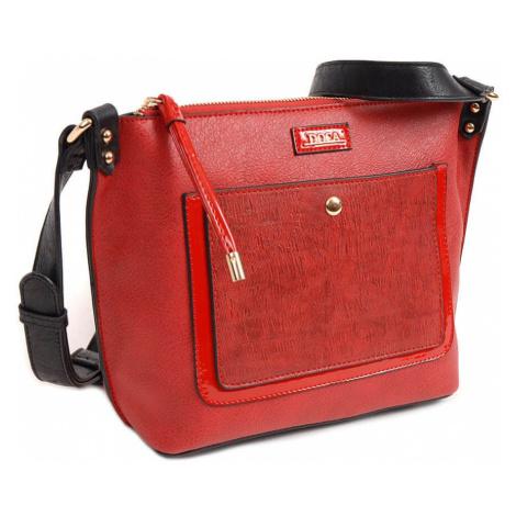 Dámská crossbody kabelka Doca 13949 - červená