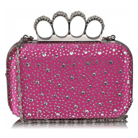 Ls Fashion Luxusní růžové kamínkové psaníčko s boxerem LSE00119 Růžová