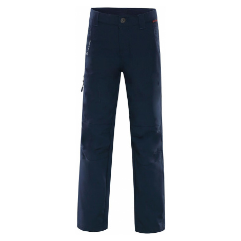 Dětské softshellové kalhoty Alpine Pro PLATAN 2 - tmavě modrá