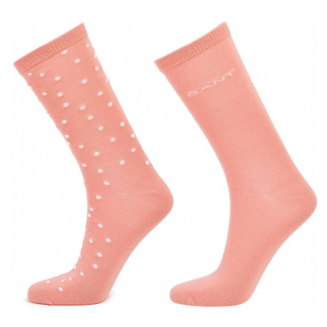 PONOŽKY GANT D1. 2 PACK DOT AND SOLID SOCK