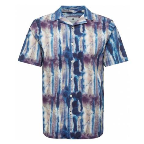 Anerkjendt Košile 'AKLEO' světle hnědá / námořnická modř / béžová / tmavě fialová