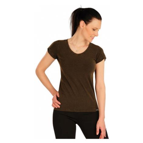 Dámské tričko s krátkým rukávem Litex 5A411   hnědočerná