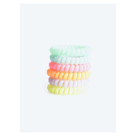 GATE Sada šesti barevných gumiček do vlasů