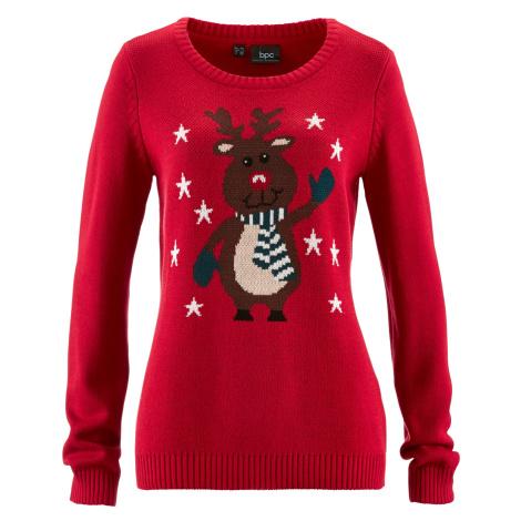 Pletený svetr s vánočním motivem Bonprix