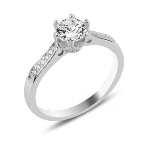 OLIVIE Stříbrný zásnubní prsten 3355