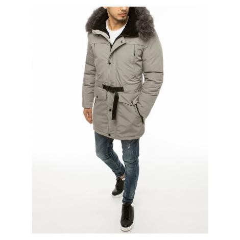 Men´s winter hooded parka jacket, light gray TX3609 DStreet