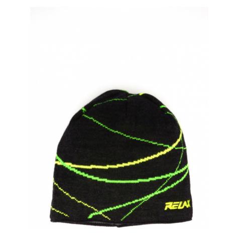 RELAX WAVER Zimní čepice RKH27I černo-žlutá S