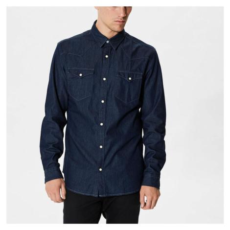Tmavě modrá riflová košile – Slim fit Selected