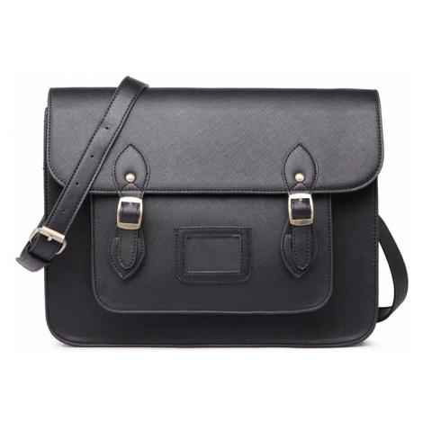 Černá dámská kufříková kabelka Praliel