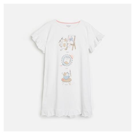 Reserved - Noční košilka s potiskem - Bílá