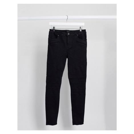 Vero Moda skinny biker jeans in black