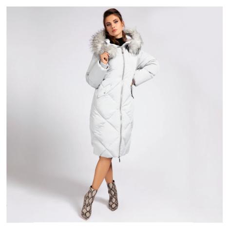 Guess dámská šedá dlouhá bunda