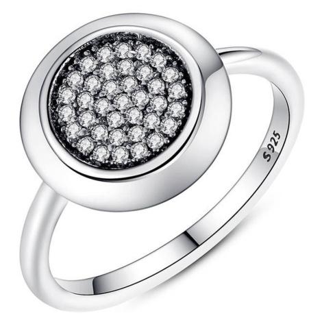 Linda's Jewelry Stříbrný prsten Shiny Circle IPR006 Velikost: 54