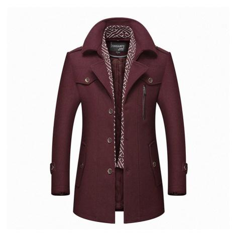 Pánský zimní vlněný kabát S61 FashionEU