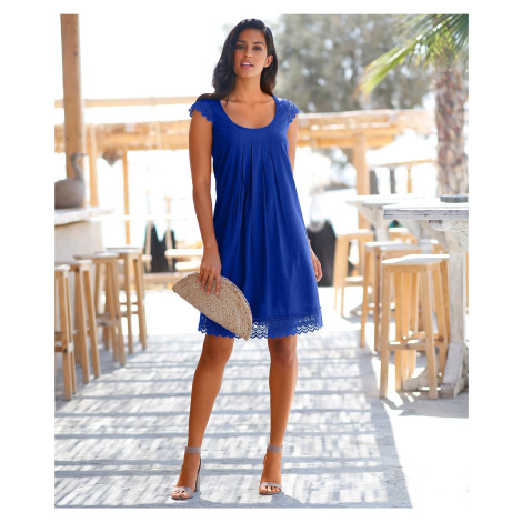 Blancheporte Šaty s macramé tmavě modrá
