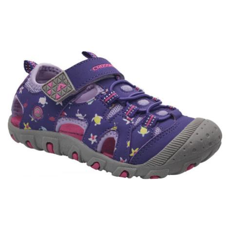 Crossroad MUGEN fialová - Dětské sandály