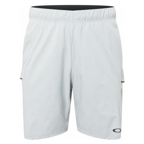 OAKLEY Sportovní kalhoty světle šedá / antracitová
